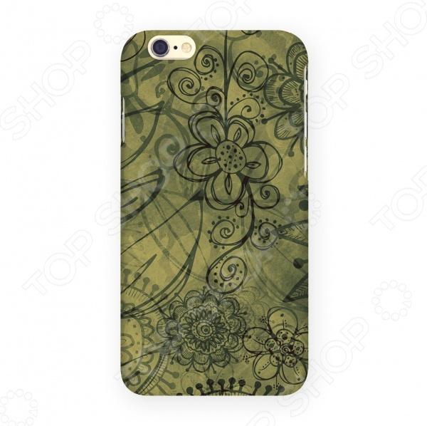 Чехол для IPhone 6 Mitya Veselkov «Цветы на зеленом» мобильный телефон alcatel onetouch 2008g full black