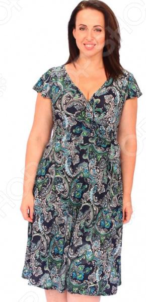 Платье Матекс «Цветочные эмоции». Цвет: зеленый