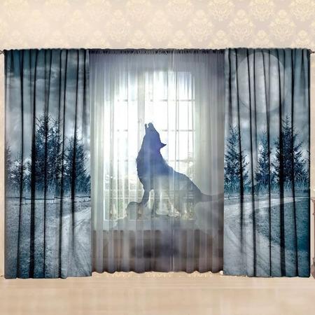 Купить Комплект фотоштор с тюлем ТамиТекс «Лунная волчица»