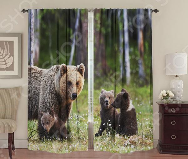 Фотошторы ТамиТекс «Большая медведица» шторы комнатные айлант об13