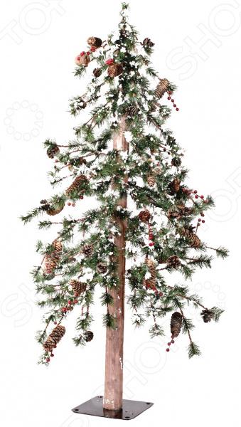 Ель искусственная Crystal Trees «Гренландия с ягодами и шишками» ель новогодняя crystal trees 1 2 м триумфальная с шишками kp8612