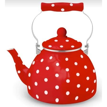 Купить Чайник эмалированный Kelli KL-4447 «Горох»