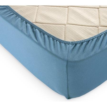 Купить Простыня на резинке ТексДизайн. Цвет: голубая ель