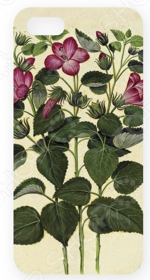 Чехол для IPhone 5 Mitya Veselkov «Лиловые цветы»