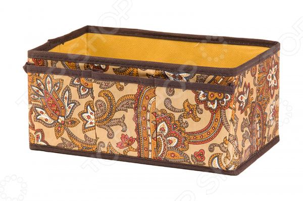 Органайзер для косметики и мелочей EL Casa «Перо павлина». Цвет: коричневый
