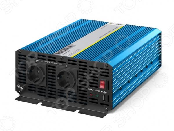Инвертор автомобильный Pitatel KV-P1500RU.24 автоинвертор pitatel kv m300u 24