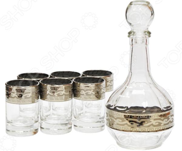 Набор: графин и 6 стаканов Гусь Хрустальный «Версаче» same графин версаче серебро