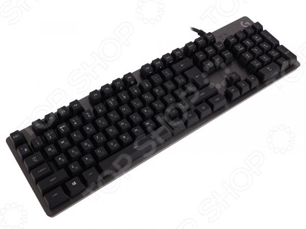 Клавиатура игровая Logitech G413 Carbon клавиатура logitech игровая g413 mechanical gaming keyboard rus usb intnl red