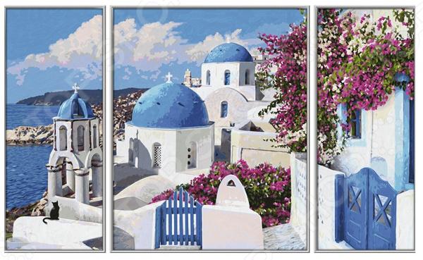 Набор для рисования по номерам Schipper «Триптих. Санторини» набор для рисования по номерам schipper триптих дед мороз