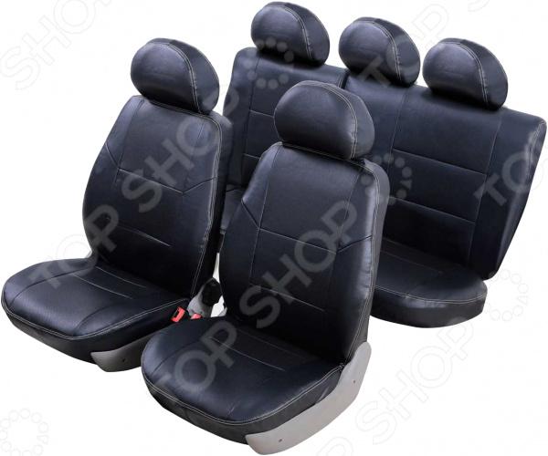 Набор чехлов для сидений Senator Atlant Nissan Almera III 2012 чехлы модельные senator atlant экокожа lada vesta 2015 … седан раздельный задний ряд черный s1013581