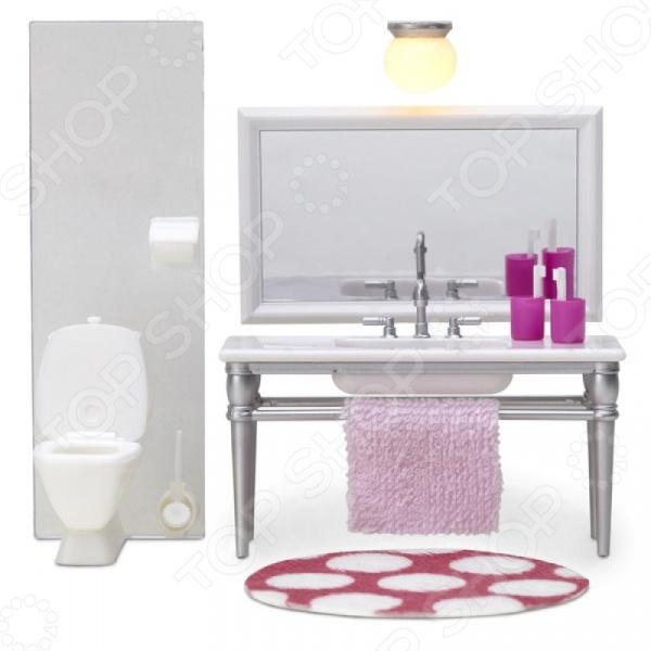 Мебель для куклы Lundby «Смоланд. Ванная с 1 раковиной» кукольная мебель lundby смоланд обеденный уголок lb 60209600
