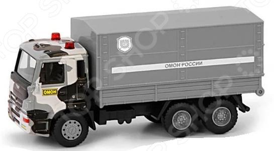 Машина инерционная PlaySmart «Грузовик ОМОН» танки и военная техника playsmart паз омон