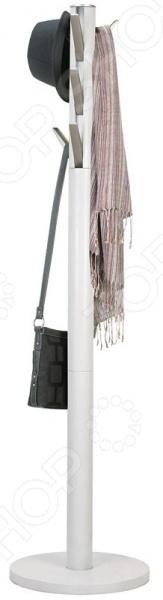 Вешалка напольная Umbra Flapper идеально впишется как в жилое помещение, так и в офис. Девять крючков с откидным механизмом помогут надежно и удобно разместить верхнюю одежду и аксессуары. Крючки съемные, выполнены из высокопрочного никеля. Вешалка отличается изящным стильным исполнением и удобством использования. Она не занимает много места, а однотонная спокойная расцветка помогает ей вписаться в любой интерьер. Вешалка поможет быстро организовать порядок в прихожей и поведает гостям о вашем утонченном вкусе.
