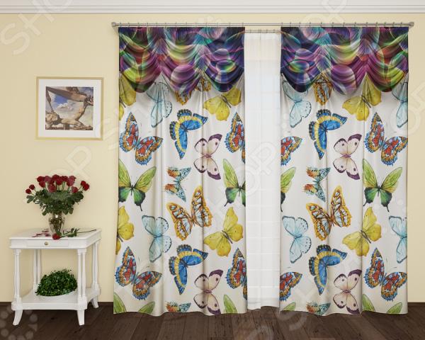 Фотошторы с кулиской ТамиТекс «Разноцветные брызги» шторы stickbutik фотошторы театральный занавес