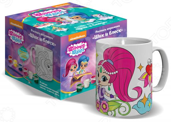 Набор для росписи керамики Nickelodeon «Кружка и краски. Шик и блеск»
