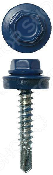 Набор саморезов кровельных Stayer СКМ для металлических конструкций. Цвет: синий
