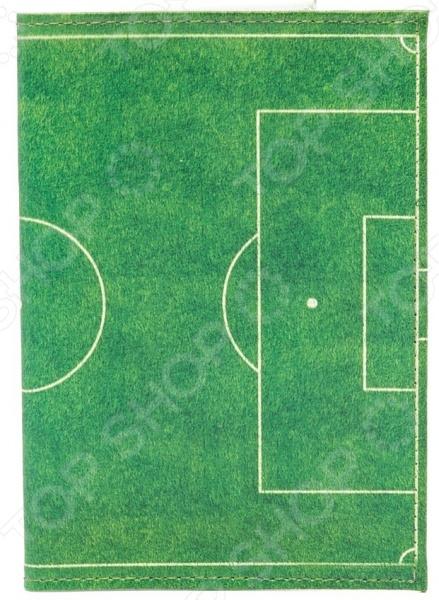 Обложка для паспорта кожаная Mitya Veselkov «Футбольное поле» обложка для паспорта mitya veselkov цветущая аллея