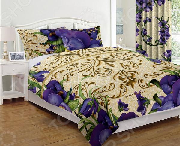 Фото - Покрывало стеганое «Соната Лилу» покрывало для кровати iraq animal husbandry ym afsm6080ljt99