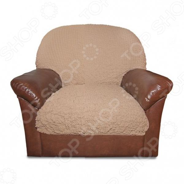 Zakazat.ru: Натяжной чехол на подушку для кресла Еврочехол «Модерн. Какао»