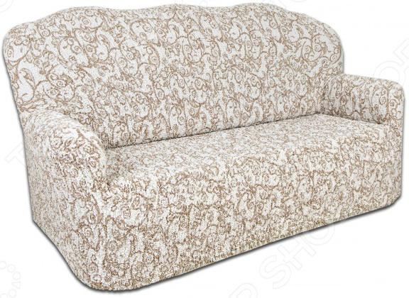 Натяжной чехол на трехместный диван Еврочехол Еврочехол «Виста. Антея» как купить мебель николаев бу