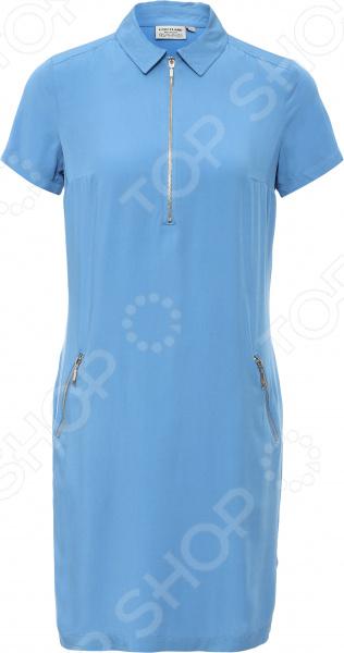 Платье Finn Flare S16-11035. Цвет: голубой