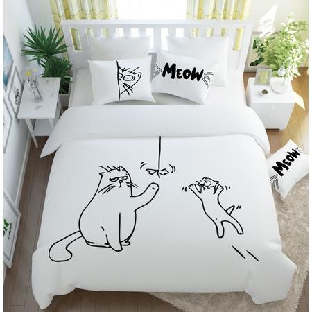 Купить Комплект постельного белья Сирень «Кот Саймон»
