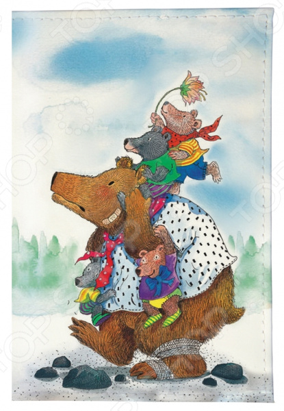 Обложка для паспорта Mitya Veselkov «Медведица с медвежатами» цена