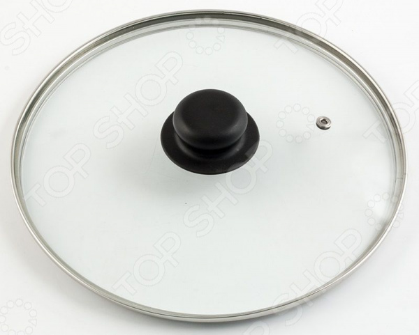 Крышка стеклянная Regent с пароотводом крышка стеклянная с жаропрочной ручкой и пароотводом 24 см 0200s 24000 risoli