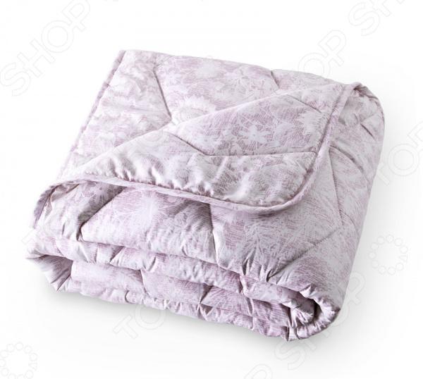 одеяло стеганое из хлопковой вуали с рисунком колорблок Одеяло стеганое ТексДизайн с овечьей шерстью