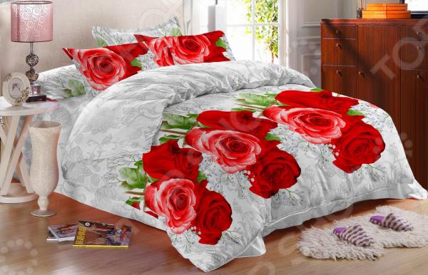 Комплект постельного белья «Сладкий сон». 1,5-спальный. Рисунок: розана