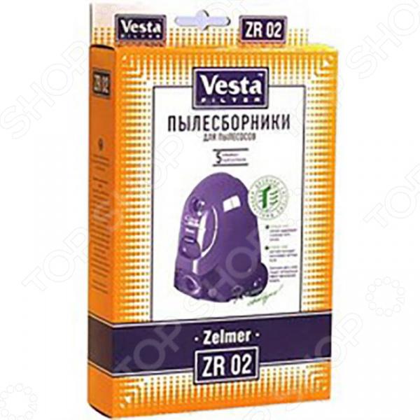 Мешки для пыли Vesta Filter ZR 02  Zelmer