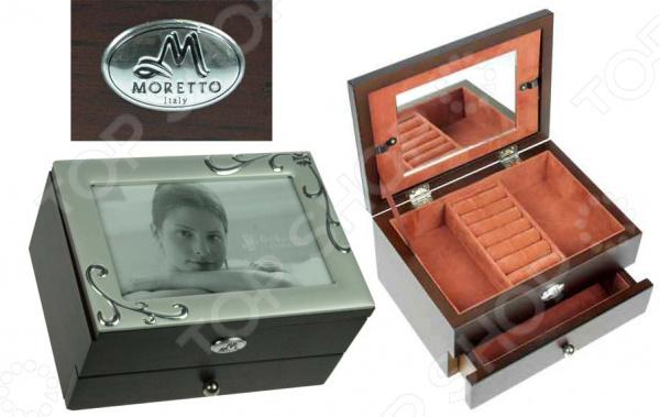 Шкатулка-фоторамка ювелирная двухъярусная Moretto 39731