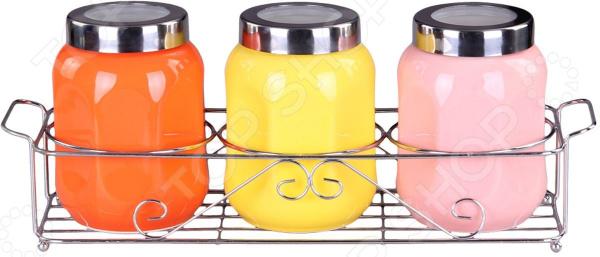 Набор банок для сыпучих продуктов Patricia IM99-5225 емкости неполимерные patricia банка 17 см шт