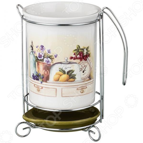 Подставка под кухонные приборы Agness «В саду» 358-1248 подставки кухонные agness подставка под кухонные приборы с любовью