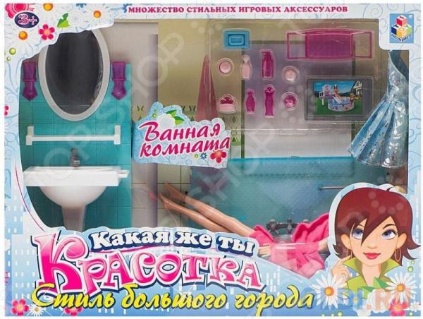 Набор мебели с куклой 1 TOY «Ванная комната»