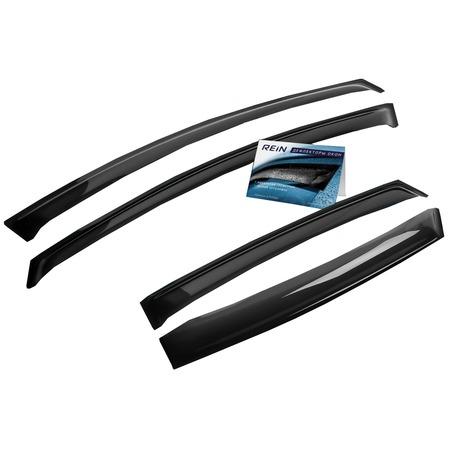Купить Дефлекторы окон накладные REIN Nissan Note I, 2005-2014, хэтчбек