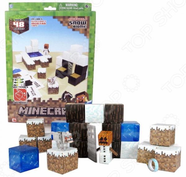 Конструктор из бумаги Minecraft «Снежный биом» minecraft игровой конструктор из бумаги снежный биом 48 деталей