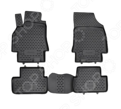 Комплект ковриков в салон автомобиля Novline-Autofamily Renault Fluence 2010 pu набор автомобильных ковриков novline autofamily для renault kangoo 1998 в салон 4 шт