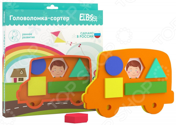 Игрушка-сортер логическая El Basco «Автобус»