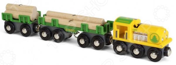 Товарный поезд игрушечный Brio «Лесовоз»