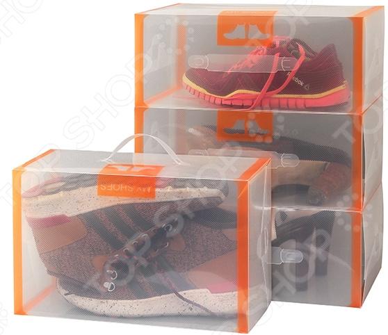 Набор коробок для хранения обуви EL Casa 35х21х14 см