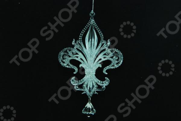 Новогоднее украшение Crystal Deco узорное