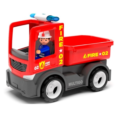 Купить Машинка игровая EFKO «Пожарный грузовик игрушка с водителем»
