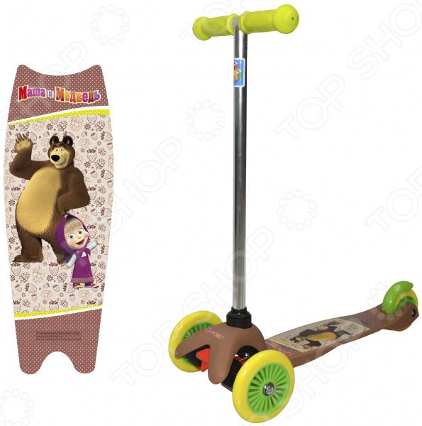 Самокат трехколесный 1 Toy «Маша и Медведь» Т59564 самокат трехколесный 1 toy т57644 peppa