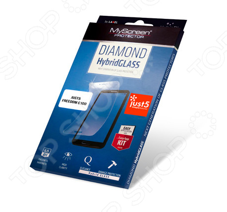 Пленка защитная MyScreen Diamond Hybrid Glass для Freedom C100 butterfly bling diamond case