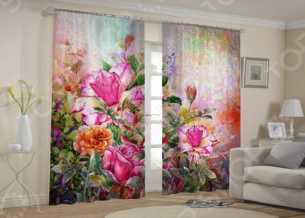 Фотошторы «Утренние цветы» утренние цветы