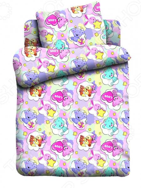 Ясельный комплект постельного белья Кошки-Мышки «Зверята»