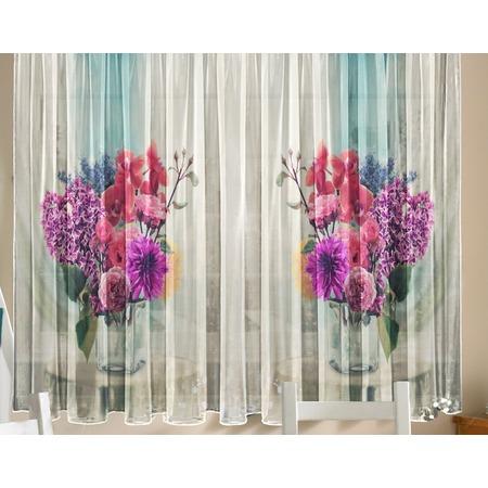 Купить Комплект тюля ТамиТекс «Цветы в вазе»