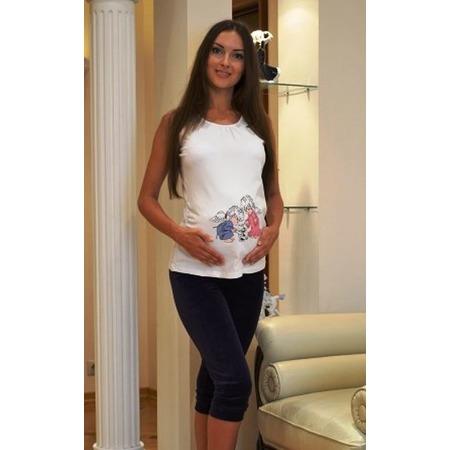Купить Футболка для беременных Nuova Vita 1213. Цвет: белый