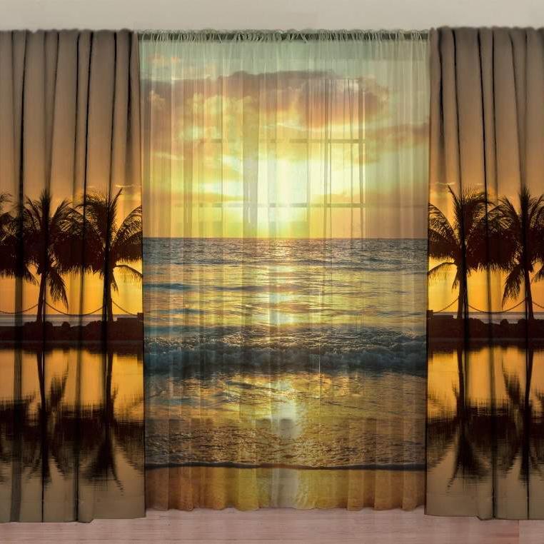 Комплект фотоштор с тюлем ТамиТекс «Морской прибой»